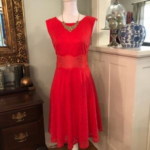 London Times Coral Lace Dress New